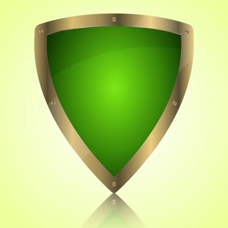 Triumph green shield symbol icon, illustration Stock Vector - 20087699