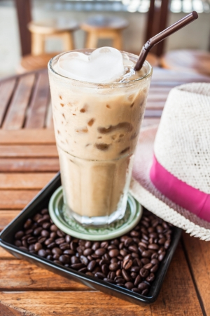 A glass of iced coffee at espresso bar