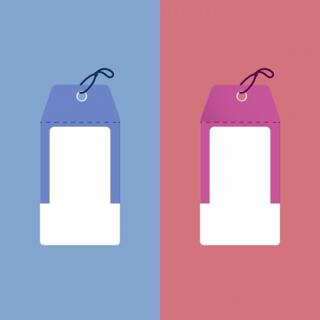 two tone: Useful two tone paper tags