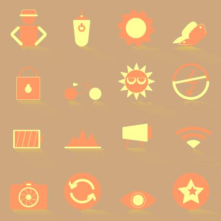 remote lock: Los iconos de color Fotograf�a con sombra, stock vector