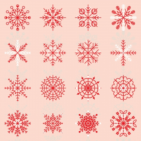 Create snowflake icons with reflect, stock vector