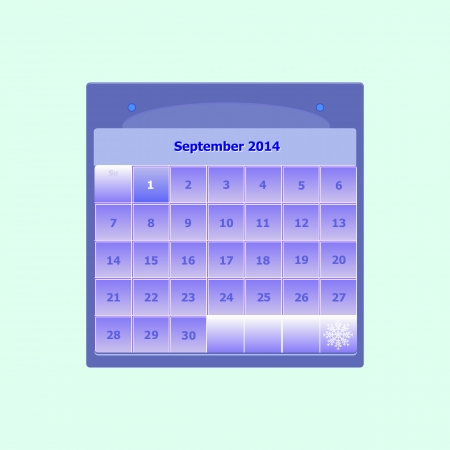Design schedule monthly september 2014 calendar, stock vector Stock Vector - 24503984