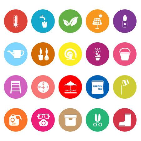haus garten: Startseite Gartenwohnung Symbole auf wei�em Hintergrund, Vektorgrafik