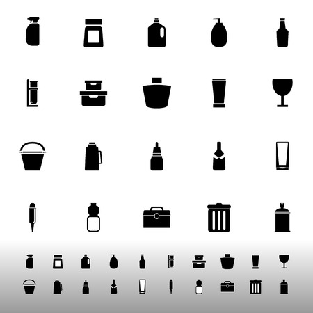 litre: Design package icons on white background, stock vector Illustration