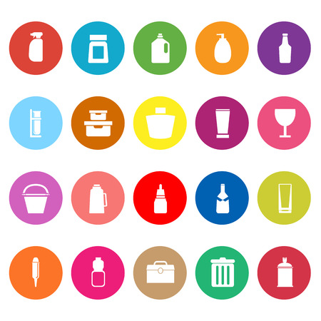 litre: Design package flat icons on white background, stock vector Illustration