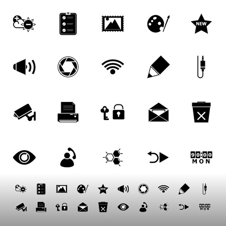 General computer screen icons on white background, stock vector Vector