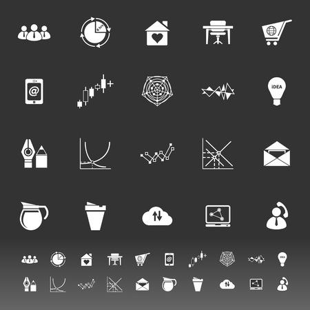 stock trader: Iconos organizaci�n virtual sobre fondo gris, de stock vector