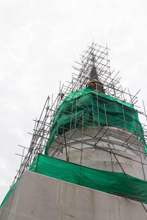 Reconstruct pagoda in phra singha temple is a public place photo