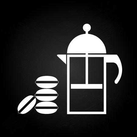 macaron: Tea time mit macaron, Stock Vektor- Illustration
