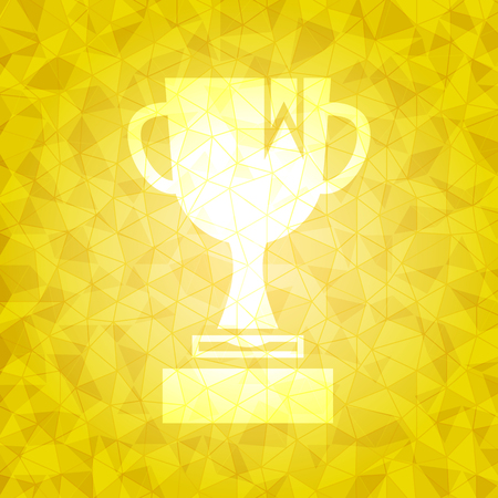 dazzled: Award on gold dazzled triangle background, stock vector