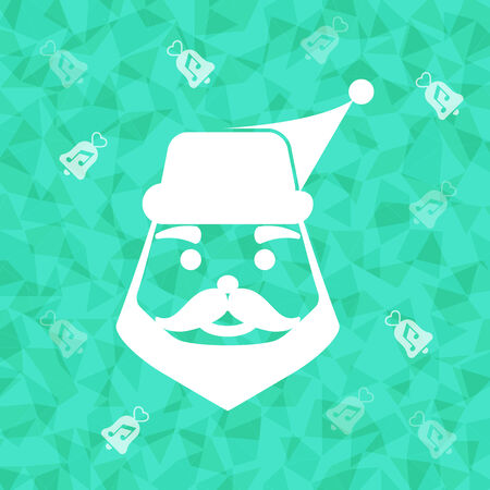 dazzled: Santa claus on dazzled triangle background, stock vector Illustration