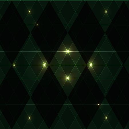 clin d oeil: Clin d'oeil vert motif vintage background, Image vectorielle