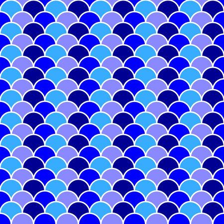 vague ocean: Seamless oc�an bleu motif de vague de fond, illustration vectorielle Illustration