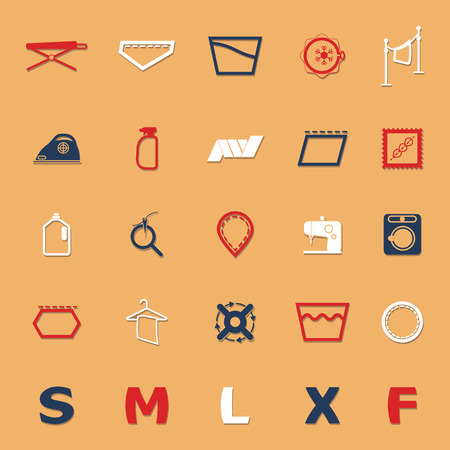 laundry hanger: Signo y s�mbolo Iconos del cuidado de tela con sombra, Vector stock Vectores