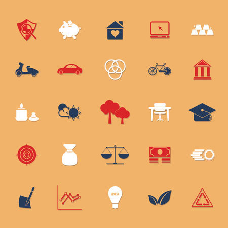sufficient: Sufficient economy icons on gray background, stock vector