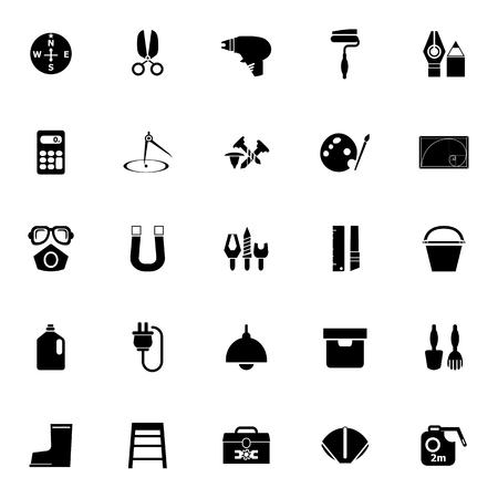 diy tool: DIY tool icons on white background, stock vector