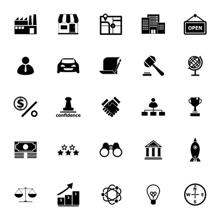 supplier: Franchise icons on white background, stock vector Illustration