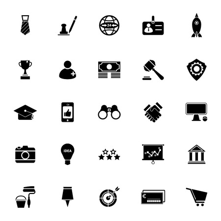bank branch: SME icons on white background, stock vector