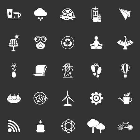 Clean concept icons on gray background, stock vector Vector