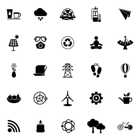 Clean concept icons on white background, stock vector Vector