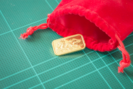 red gram: Premium quality golden gold bar, stock photo Stock Photo