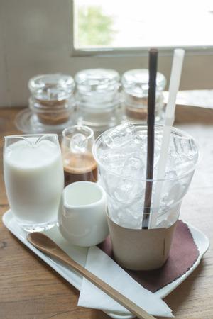 mocha: Ingredient of ice coffee mocha, stock photo