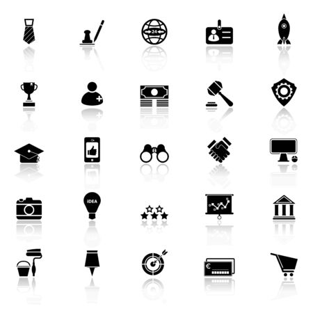 reflect: SME icons with reflect on white background