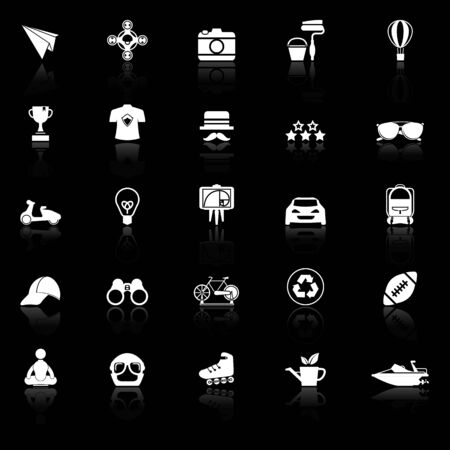 reflect: Hipster icons with reflect on white background, stock vector