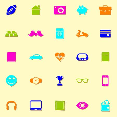 datos personales: Iconos de ne�n de datos personales con la sombra