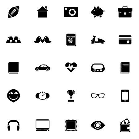 datos personales: Iconos de datos personales en el fondo blanco Vectores