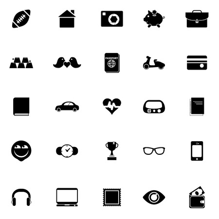 personal data: Personal data icons on white background Illustration