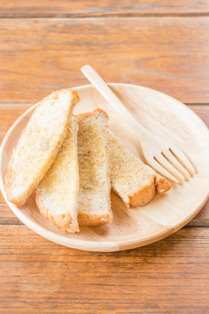 multi grain: Tasty toasted multi grain bread with butter, stock photo