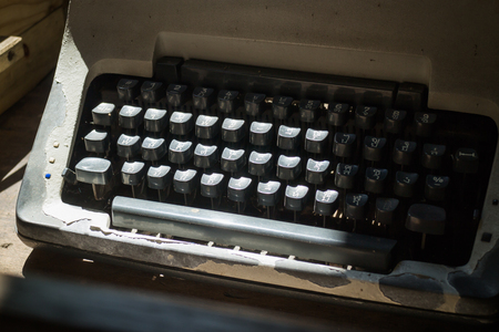 typer: Antique typewriter keys of thai, stock photo Stock Photo