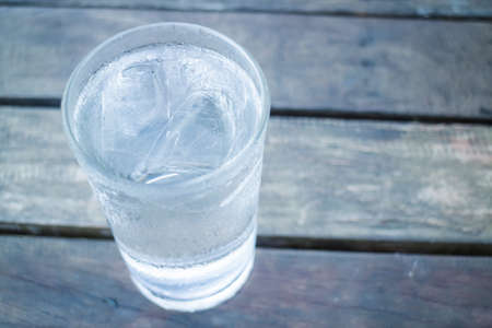 very cold: Glass of very cold water, stock photo