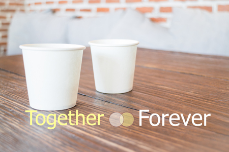 stock quote: Together forever quote design poster, stock photo
