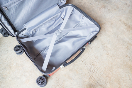 chilled out: Opening suitcase for packing the cloth, stock photo