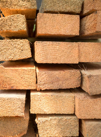 lumbering: Wood log for construction buildings background, stock photo