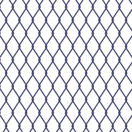 chainlink fence: Wire fence on white background, stock vector Illustration