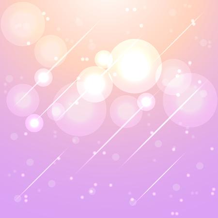 aura: Star lights in aura sky abstract background, stock vector