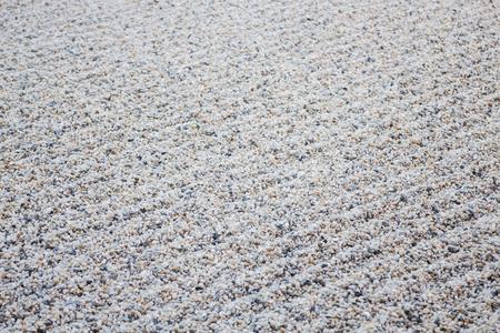 Zen gardens typically contain gravel pattern