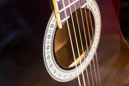 Accoustic guitar in the room, stock photo Stock Photo