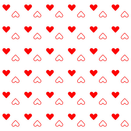 Red heart created pattern background, stock vector 向量圖像