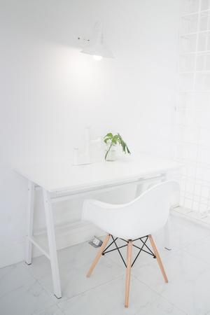 alternative living: Modern Apartment Interior With Base On White, stock photo Stock Photo