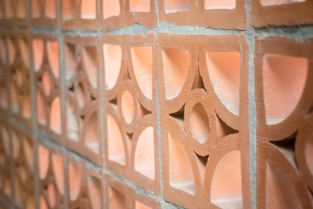 Brickwork Lattice Wall Home Interior, stock photo