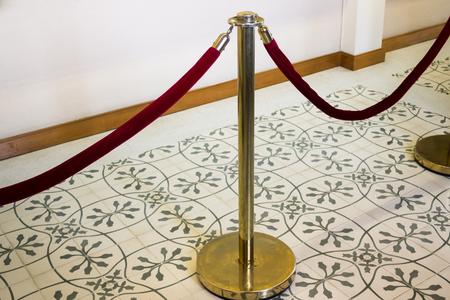 alloy: Red Velvet Rope Alloy Fence, stock photo