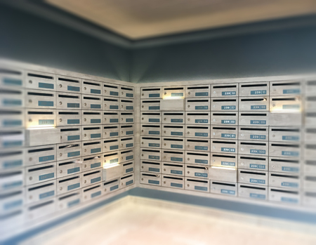 Mail Boxes Postal Corner In Apartment, Stock Photo Stock Photo ...