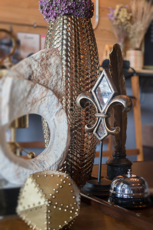 old fashioned: Vintage items decorated on the table, Stock Photo