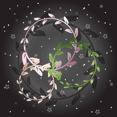 Created shiny laurel wreath on grey background, stock vector.