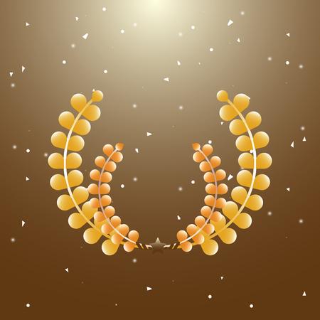 Imagination laurel wreath on brown background, stock vector Illustration