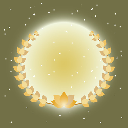 Imagination laurel wreath on radial ray background, stock vector Иллюстрация